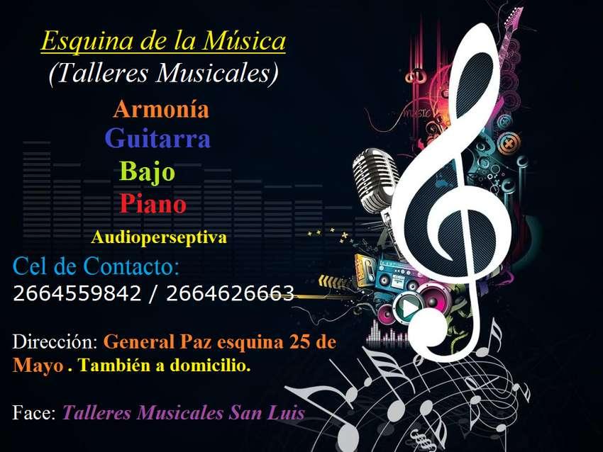 CLASES DE GUITARRA, BAJO, PIANO, Armonia y audioperseptiva, tambien a domicilio 0