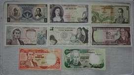 Colección de billetes.