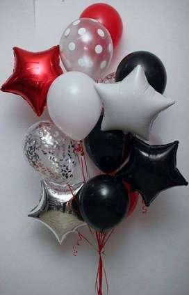 Arreglos con globos con gas helio