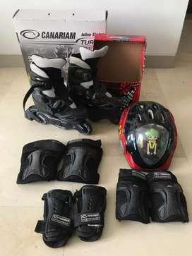 Patines Canariam + Kit de Protección C4 + Casco