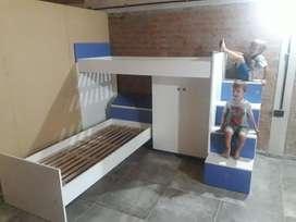 Cama Cucheta y Comoda Diseño Infantil