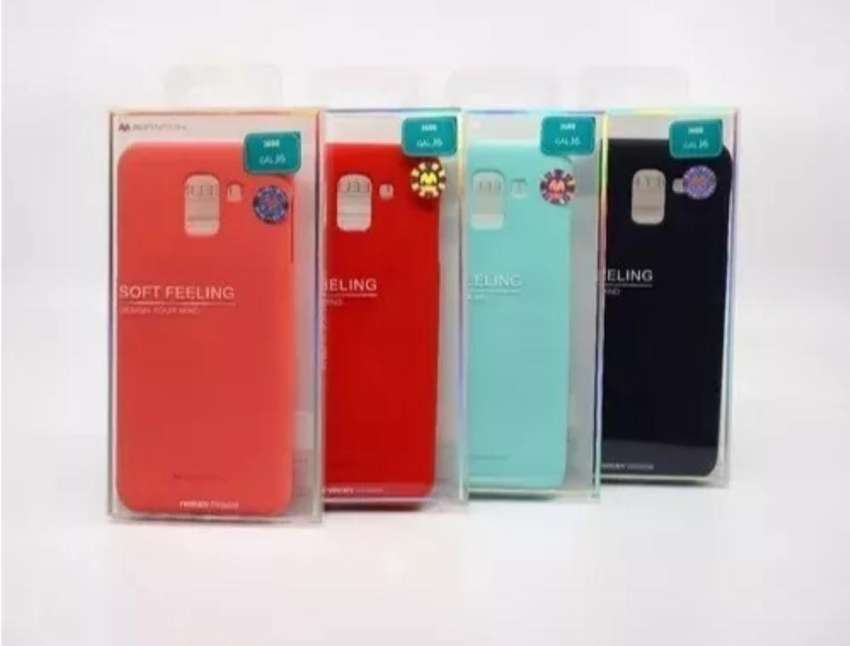 Case Silicona Original Goospery Samsung J4/ J4 Plus/ J6/ J6 Plus/ J8/ J8 Plus/ J7/ J5/ J7 Prime + Mica de vidrio 0