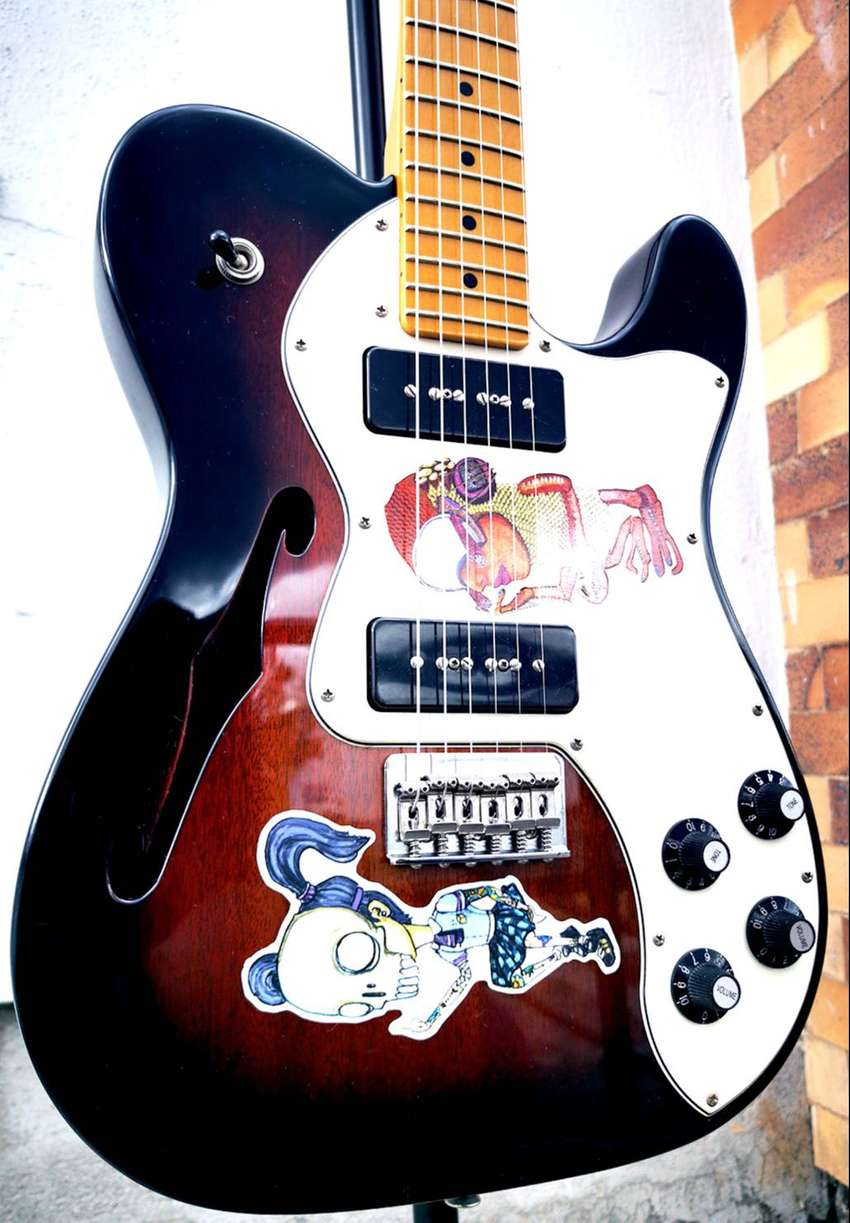 Fender Telecaster - Modern Player Thinline Deluxe 3-Color Sunburst 0