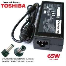 cargadores para portátil toshiba  19v a 3.42