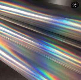 Cuerina plata holografica