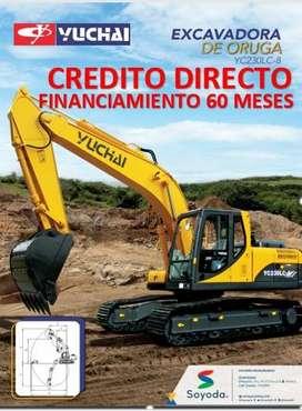 EXCAVADORA MARCA :YUCHAI ,MODELO: YC30LC-8 CREDITO DIRECTO, FACILIDADES DE PAGO