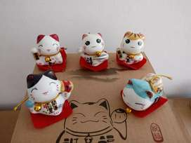 Set x5 Gatitos de la Suerte de Ceramica