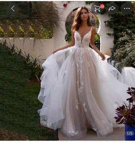 Vestido de novia diseño 2021, en perfecto estado