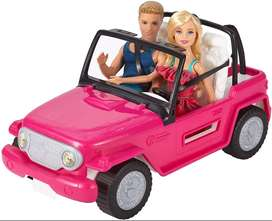 Barbie y Kent + Auto Jeep De Playa