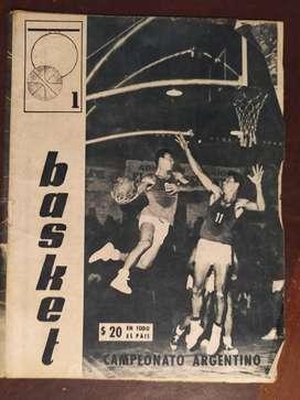 revista basquet numero 1  12 de mayo de 1964