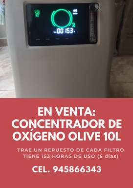 VENTA CONCENTRADOR DE OXIGENO OLIVE 10L