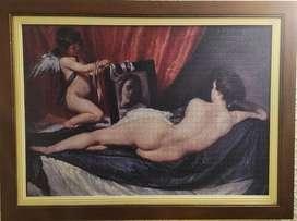 Cuadro Rompecabezas Velázquez Enmarcado