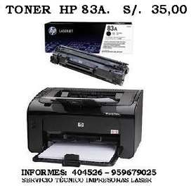 TONER HP83A HP85A HP35A HP36A HP78A HP 12A DESDE 35 SOLES
