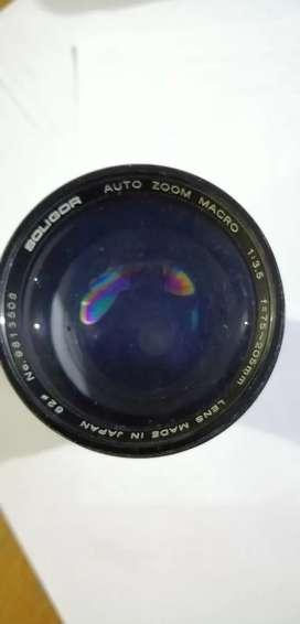 Lente Minolta Zoom Macro 75 ~ 205 mm