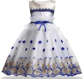Vestido Blanco/Azul
