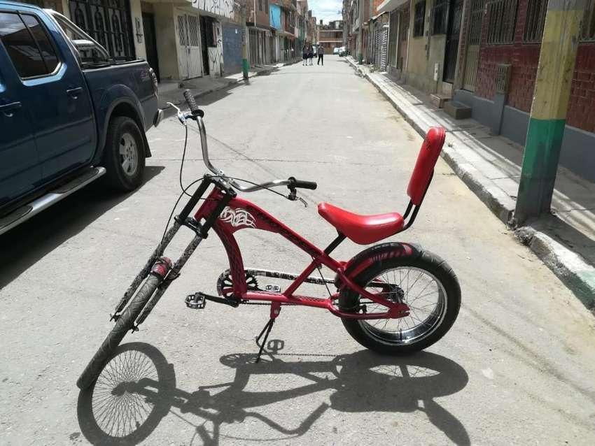 Bicicleta Chopper en Perfecto Estado 0