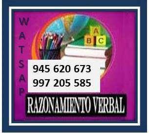 RAZONAMIENTO VERBAL REDACCIÓN COMUNICACIÓN / CLASES COLEGIOS - PRE U. 0