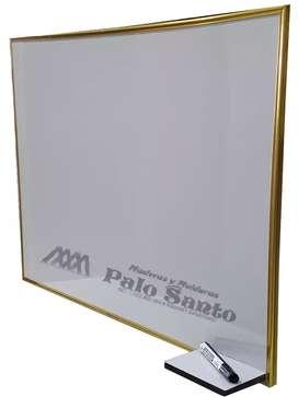 Tablero acrílico liso 80 x 60cm perfil en aluminio