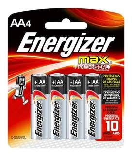 Pilas Energizer Aa Max Blister Cerrado X 4 Unidades