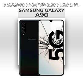 ¡Cambio de Vidrio Táctil Samsung Galaxy A90!
