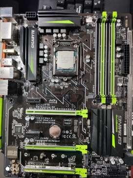 Board Y Procesador Intel 7ma Generación