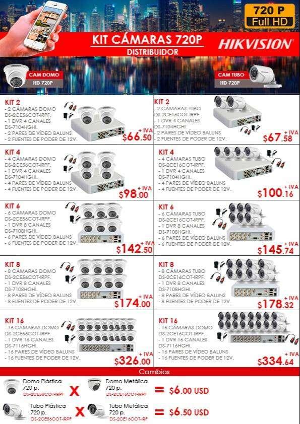 CAMARAS DE SEGURIDAD/KIT CAMARAS DE SEGUIRDAD 720P Y 1080P/CAMARAS HIKVISION/CABLE DE RED UTP/CABLE DE RED CAT 5 Y CAT 6 0