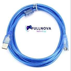 CABLE EXTENSOR USB DE 1.5 Y 3 METROS - MALLADO CON FILTRO - ALTA RESISTENCIA - NUEVOS