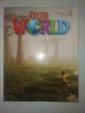 National geographic our world level 4, Worbook + student book + CD-ROM