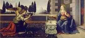 Leonardo da Vinci y Andrea del Verrocchio - Anunciación