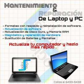 Repara tu laptop o Pc, Actualizarla.
