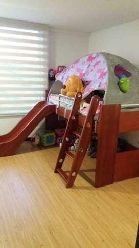 Cama para niña (Rodadero y carpa)
