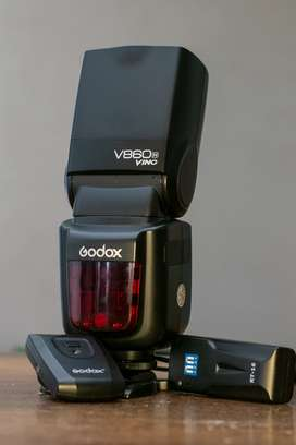 flash godox v860N ving + radio transmisor rt-16r