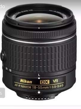 Lente Nikkor 18-55mm F/3.5-5.6g Vr Para Nikon