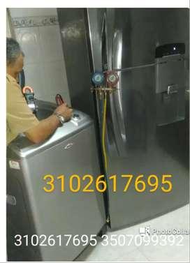 Mantenimiento preventivo y correctivo de neveras y lavadoras
