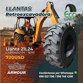 Llantas para retroexcavadora ARMOUR 19, 5 L24 - Labrado R4