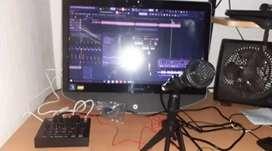 Vendo combo de interfaz de Audio Y Micrófono condensador