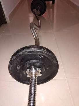 Barra z para pesas