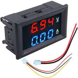 Voltimetro Y Amperimetro3 Digitos 0 A 100v Dc - 0 A 10a