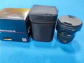 Lente Sigma 10-20mm f3.5 Ex Dc para Nikon