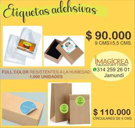 stikers adhesivos para productos