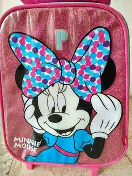 Mochila y lonchera Minnie Mouse para niñas