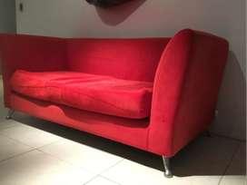 sofa rojo 1 cuerpo