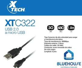Cable Micro USB Celular 1.8 M Xtech XTC-322
