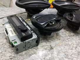 Stereo Pioneer Bluetooth + 4 parlantes Pioneer