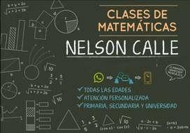 Clases de matemáticas, cálculo y física a domicilio.