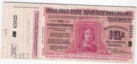 TICKET SORTEO HOSPITAL IRLANDES 1913