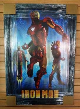 IRON MAN Poster Afiche Enmarcado en Vidrio