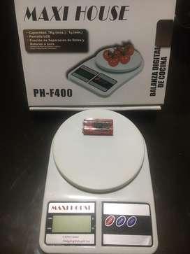 Gramera Balanza Pesa Báscula Digital De 7kg / 7000 G + Pilas