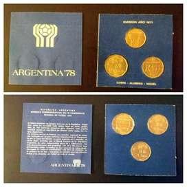 Monedas Argentina Mundial 1978. Conmemorativas