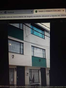 Permuta o Vendo casa Suba Bogotá por una en Barranquilla o en cartagena en estrat 3 o 4